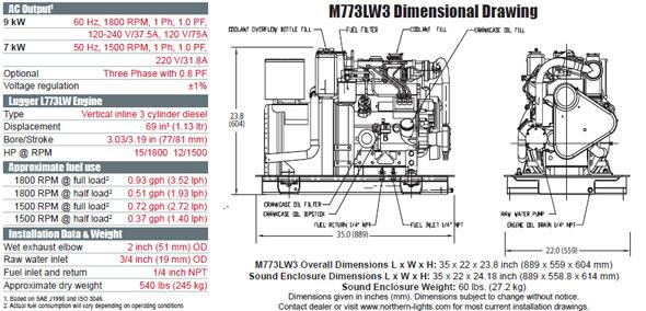 northern lights m773lw3 generator from performance diesel inc