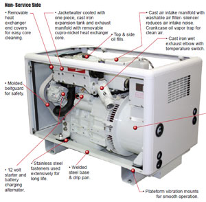 Northern Lights M673L3 marine generator features