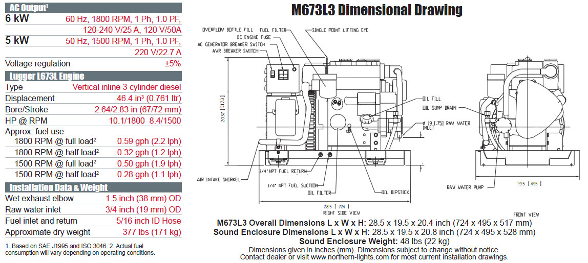 Northern Lights M673L3 Generator from Performance Diesel , Inc.Performance Diesel
