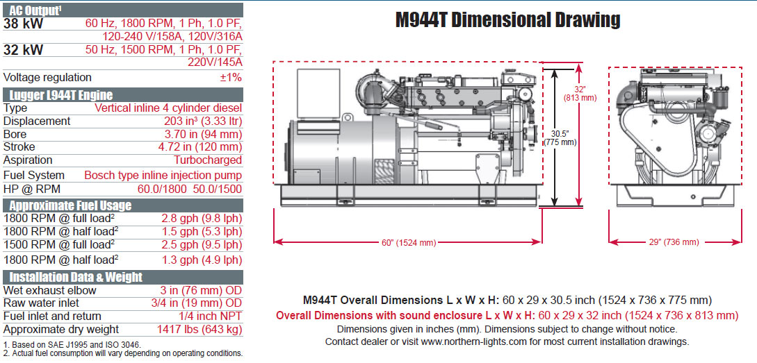 northern lights m944t generator from performance diesel inc