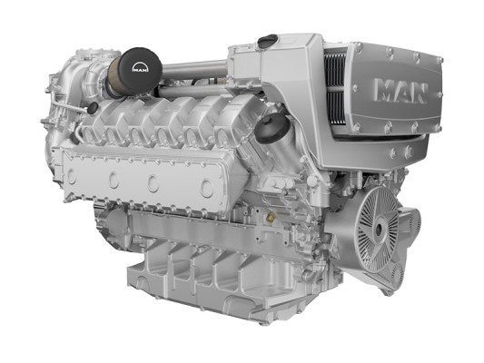 MAN extends power range of high-speed marine engines for heavy-duty
